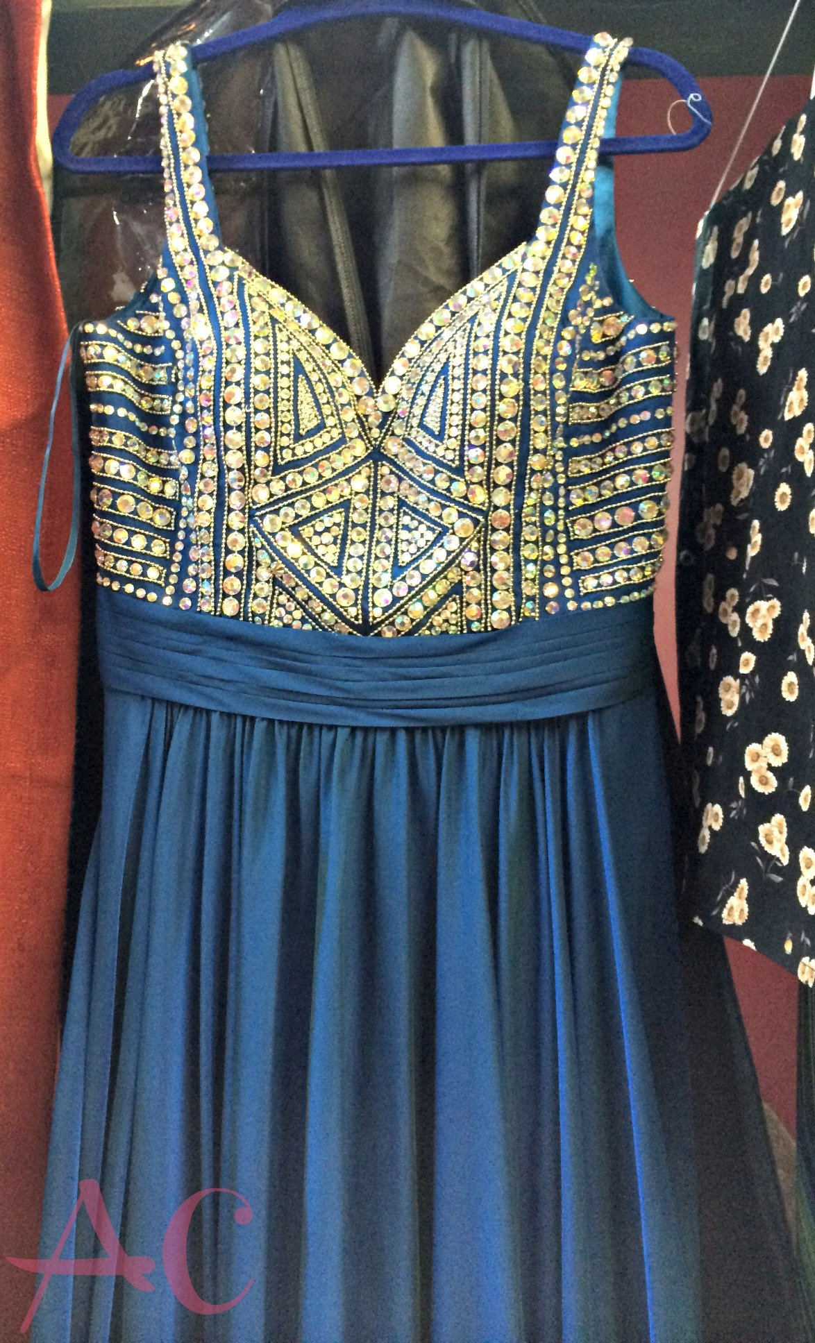 blue beaded dress 2