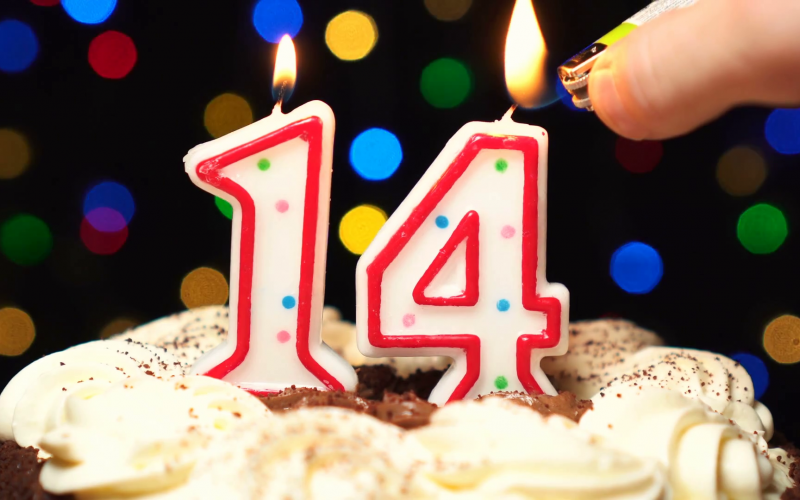 Happy 14th Birthday to Us!
